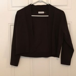 Calvin Klein dark brown lightweight sweater